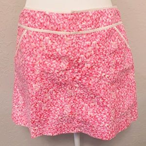 Lilly Pulitzer vintage pink and white skort - 4